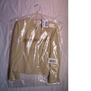 Jones New York Silk Dart Zip Jacket, Leek, Size 8
